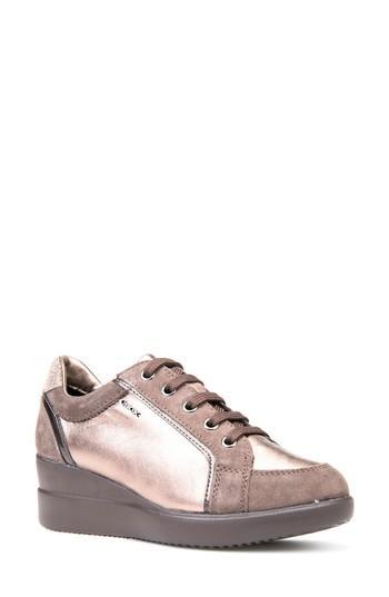 d90b7225c89 Geox Stardust Wedge Sneaker In Chestnut Leather | ModeSens