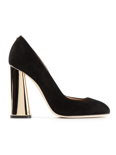 Dsquared2 Metallic Heeled Pumps In Black