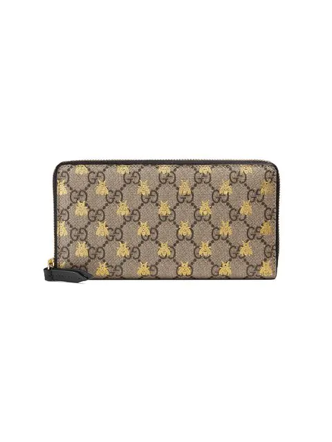 36a0c79c0bda Gucci Linea A Gg Supreme Canvas Zip-Around Wallet In Neutrals | ModeSens