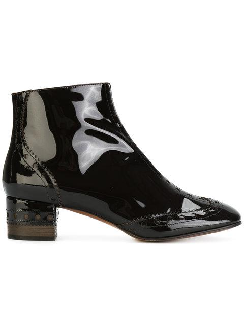 26f579553239 ChloÉ Chloe Perry Patent Leather Ankle Boots In Black