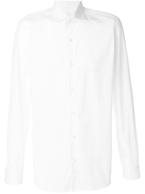 Barba Classic Formal Cotton Shirt In White