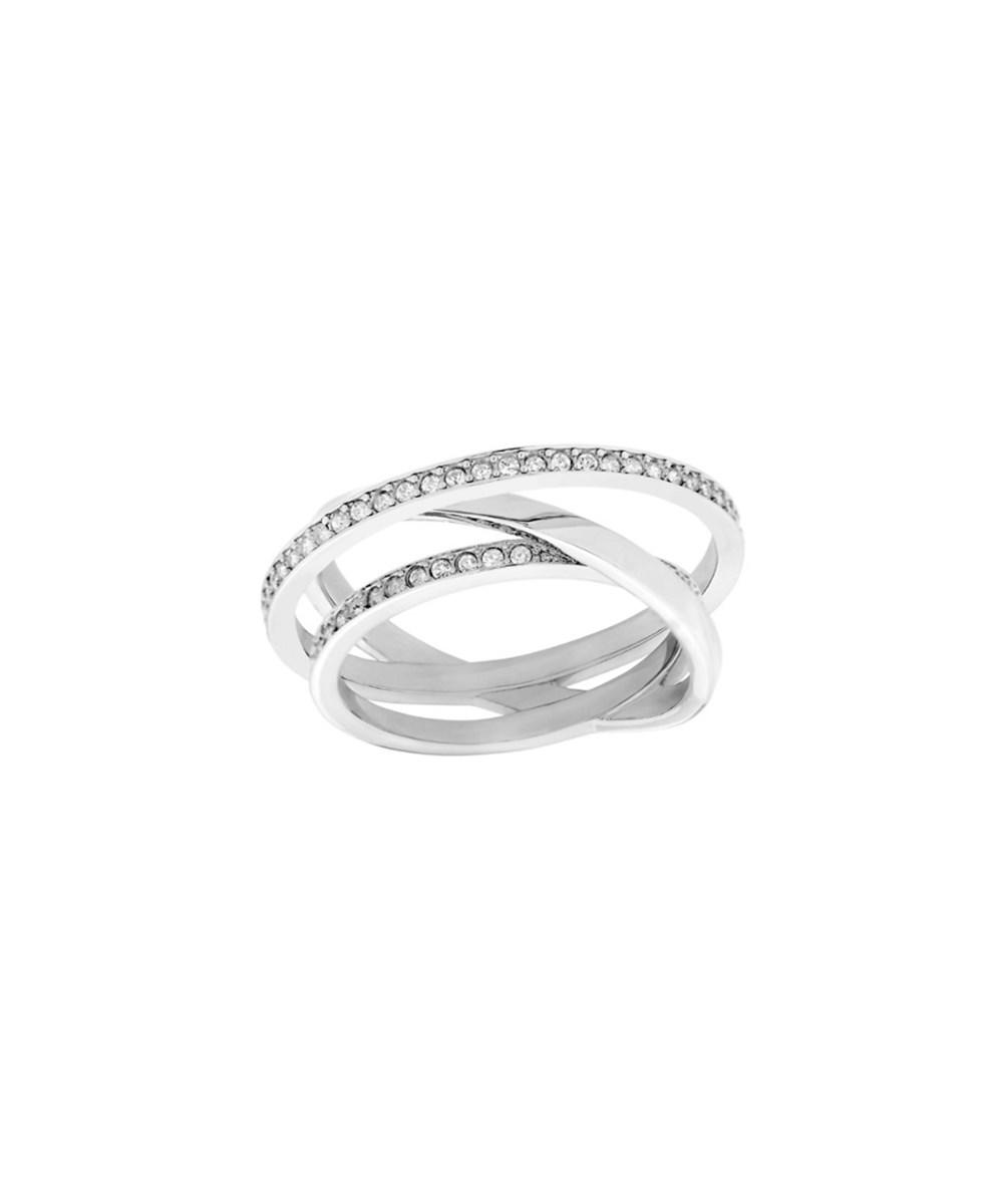 76c8ed115 Swarovski Crystal Spiral Mini Plated Stainless Steel Ring In Nocolor ...