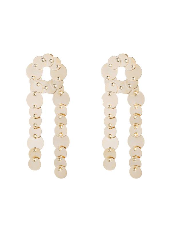 Eddie Borgo Crisscross Pinned Paillette Earrings
