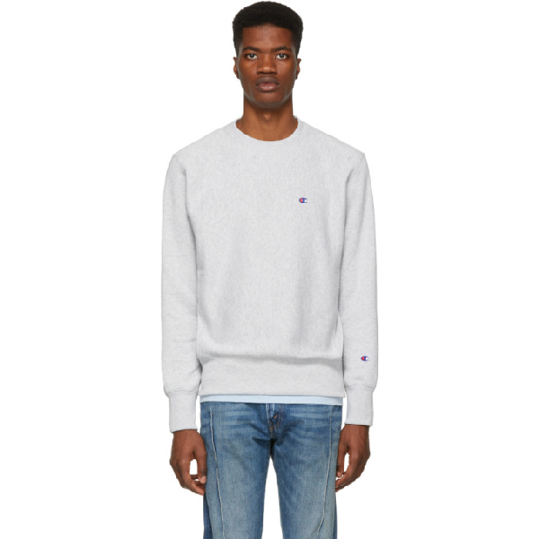 d30c1156 Champion Reverse Weave Sweatshirt With Small Logo In Gray - Gray In  Loxgm-Grey