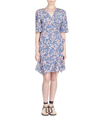 356bd347a6 Isabel Marant Brodie Floral-Print Stretch-Silk Crepe Dress In Blue ...