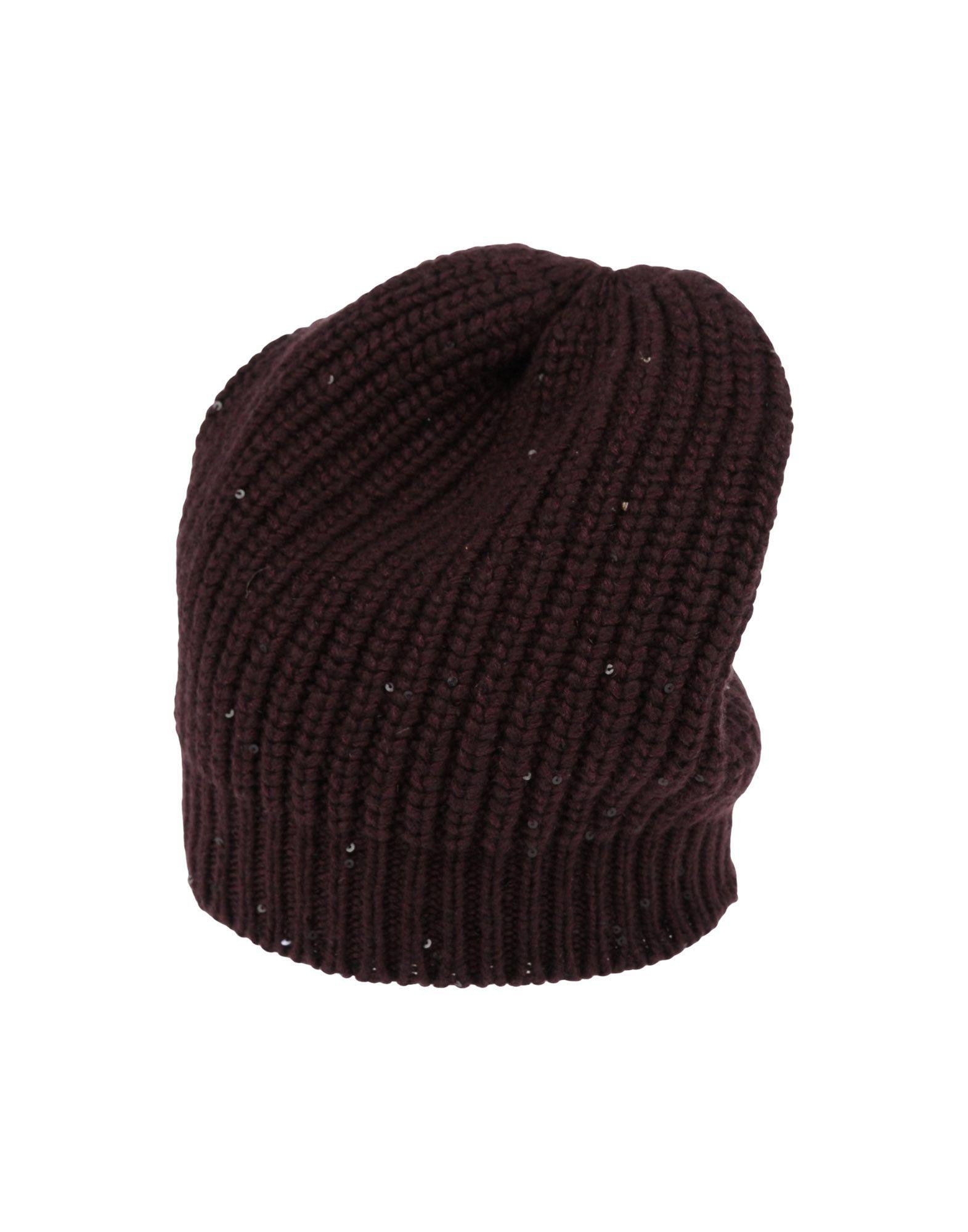 722f07ee84a Brunello Cucinelli Hat In Maroon