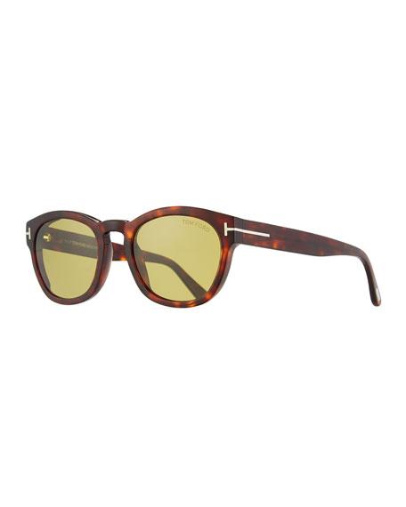 1a0d919f8f Tom Ford Bryan Round Acetate Sunglasses In Brown Green