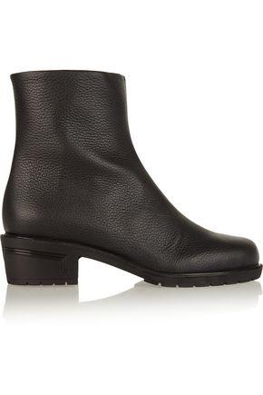 Giuseppe Zanotti Woman Kurt Textured-Leather Ankle Boots Black
