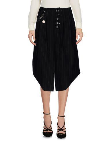High 3/4 Length Skirts In Black