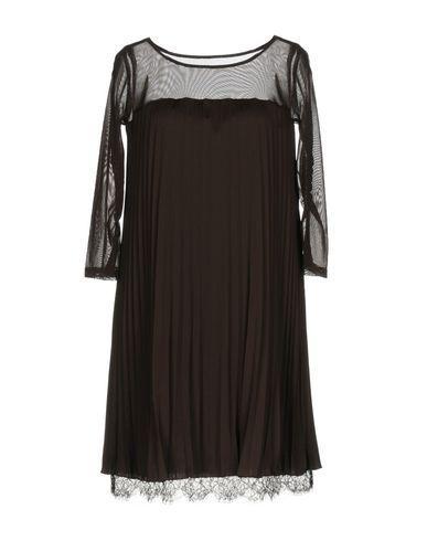 Patrizia Pepe Short Dresses In Dark Brown