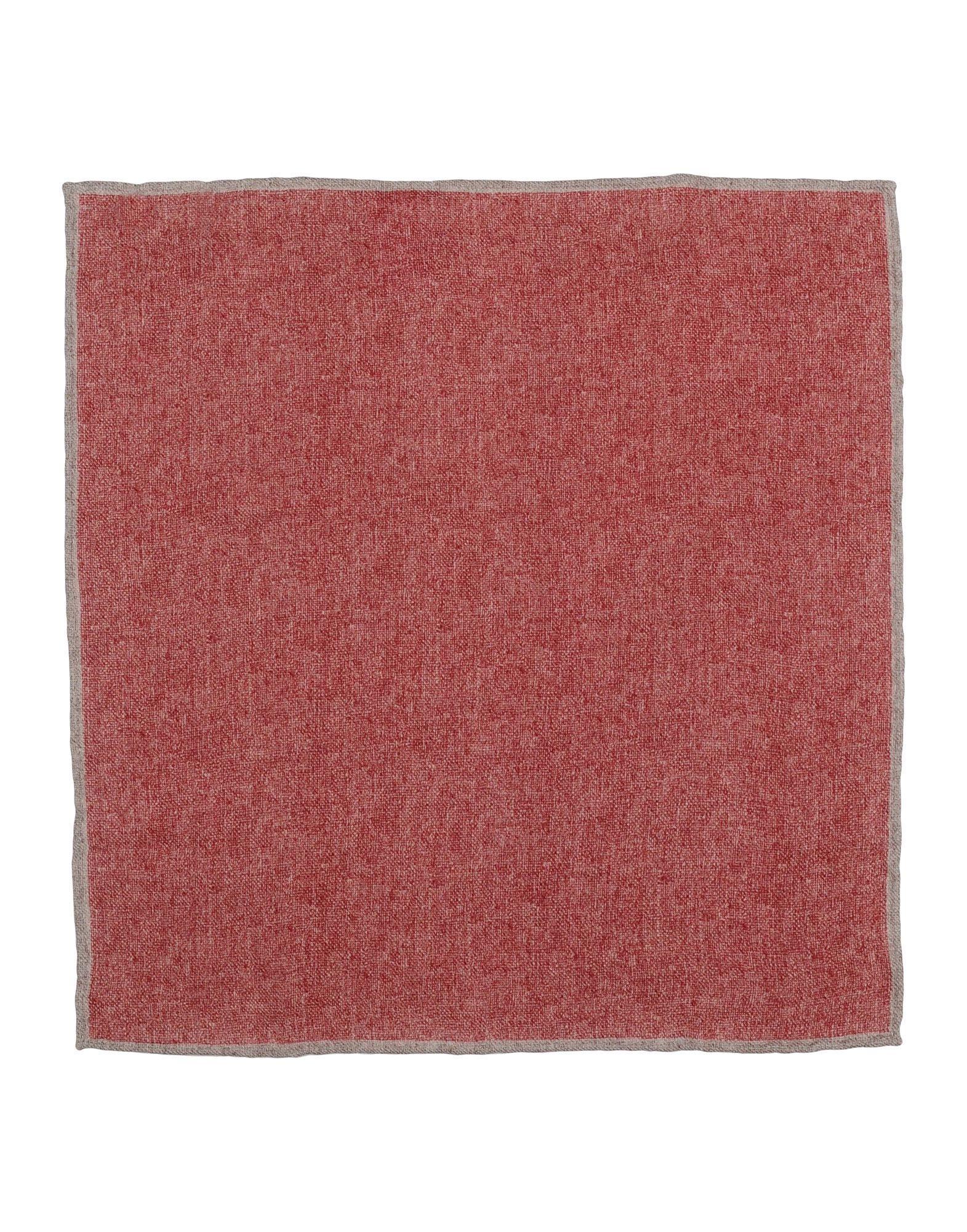 Brunello Cucinelli Square Scarf In Brick Red