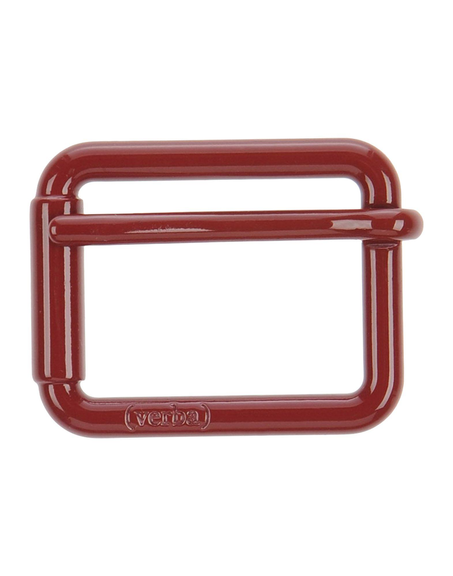 Verba (  ) Belt Buckles In Brick Red