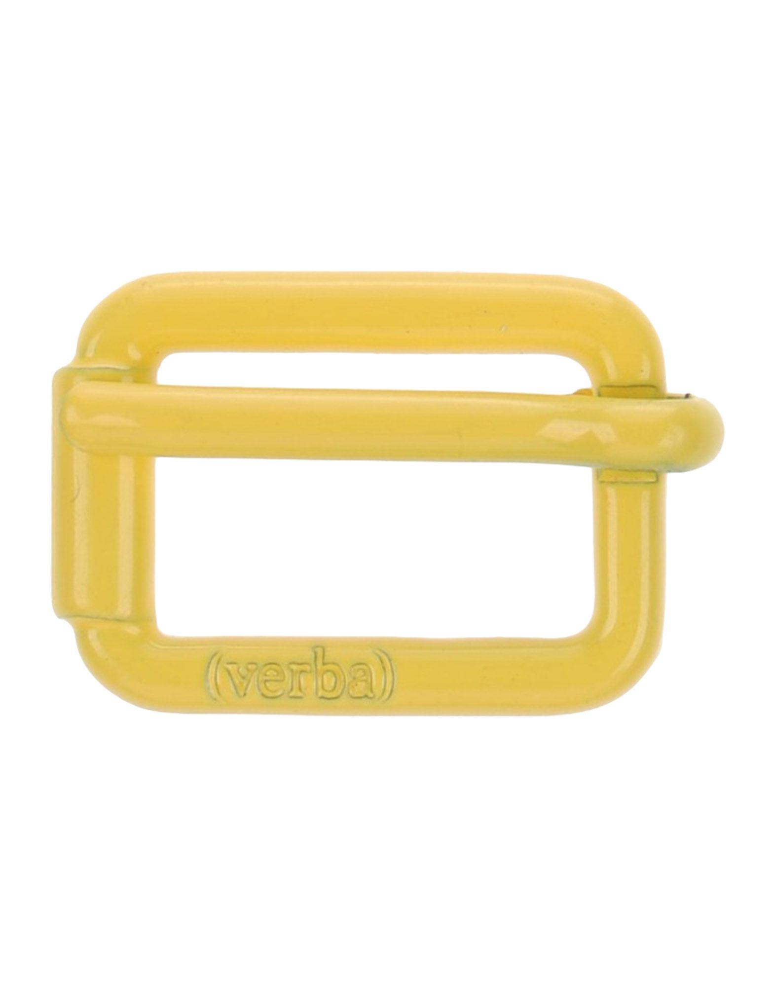Verba (  ) Belt Buckles In Yellow