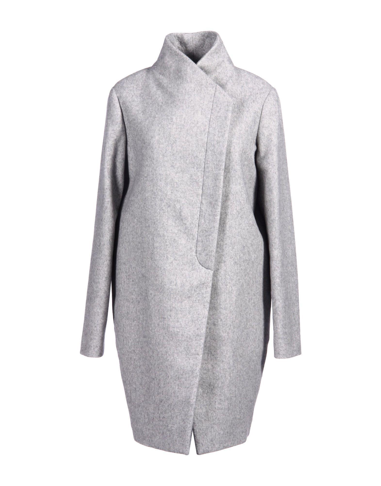 Brunello Cucinelli Coats In Light Grey