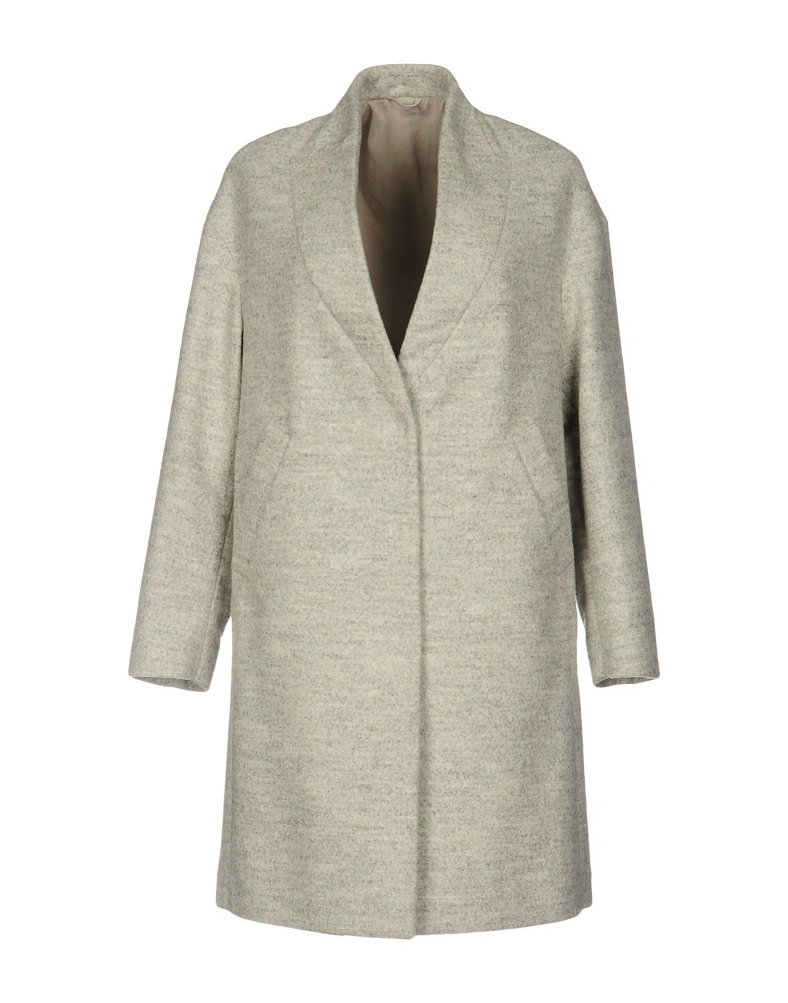 Brunello Cucinelli Coats In Light Grey