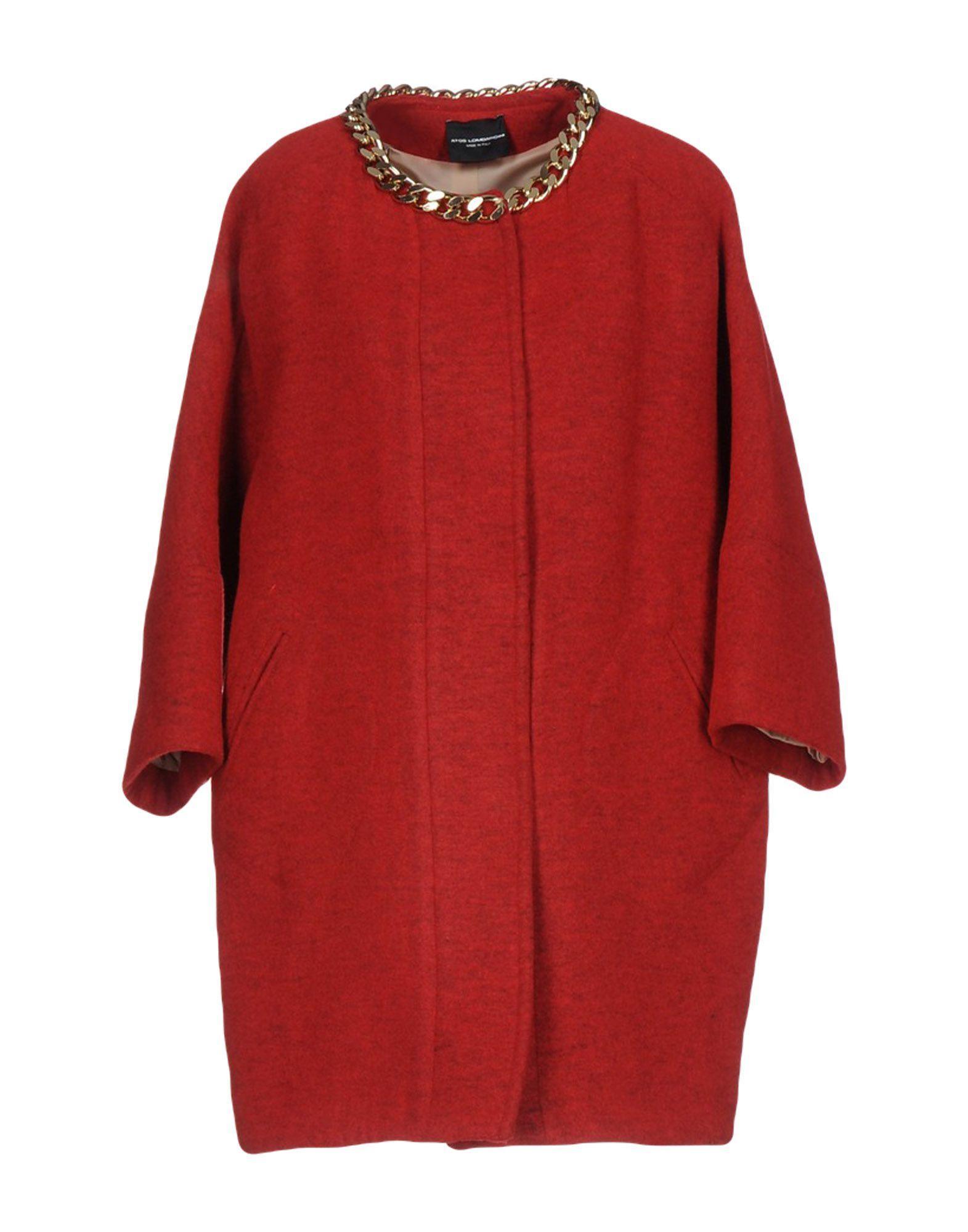 Atos Lombardini Coat In Red