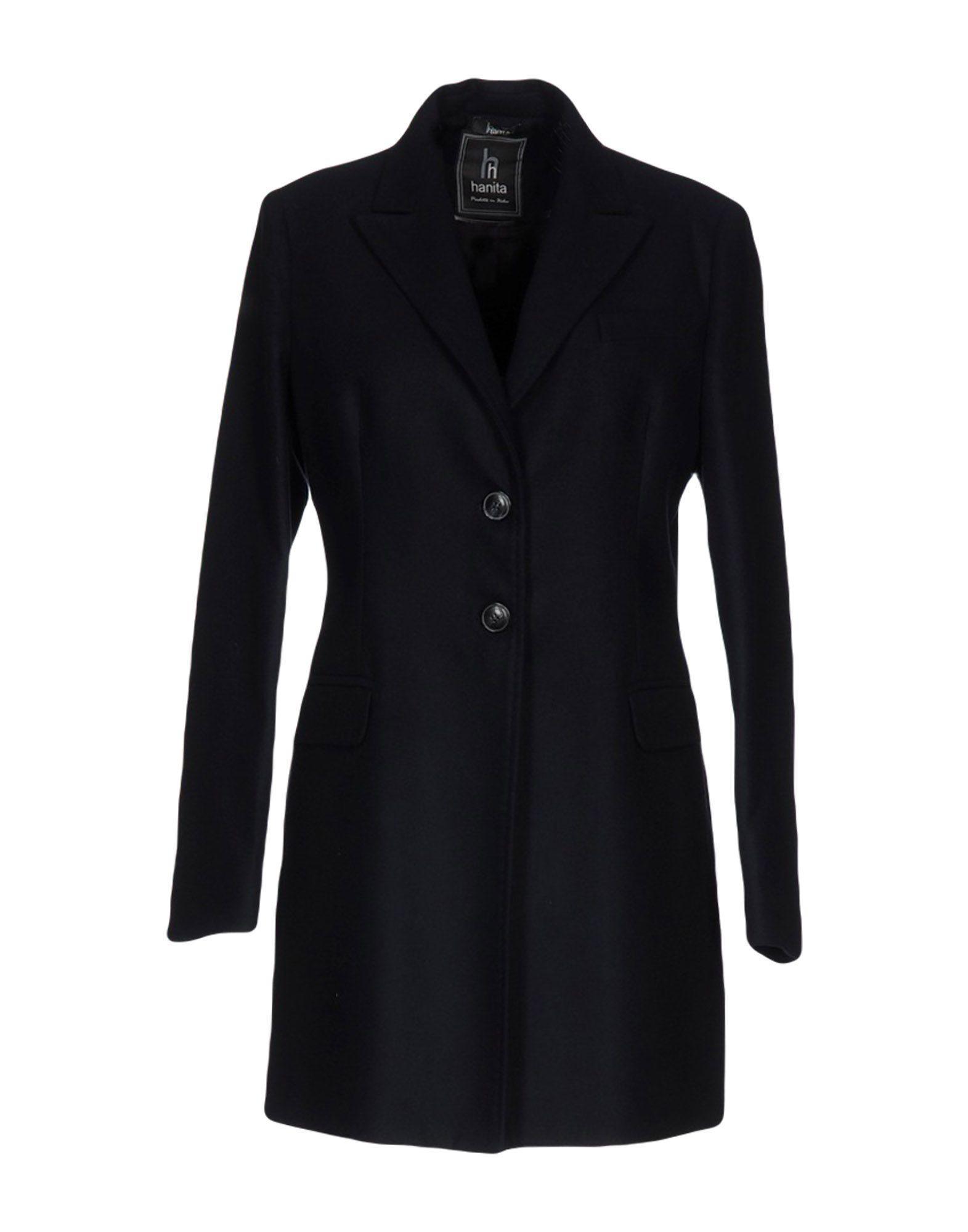 Hanita Coat In Dark Blue