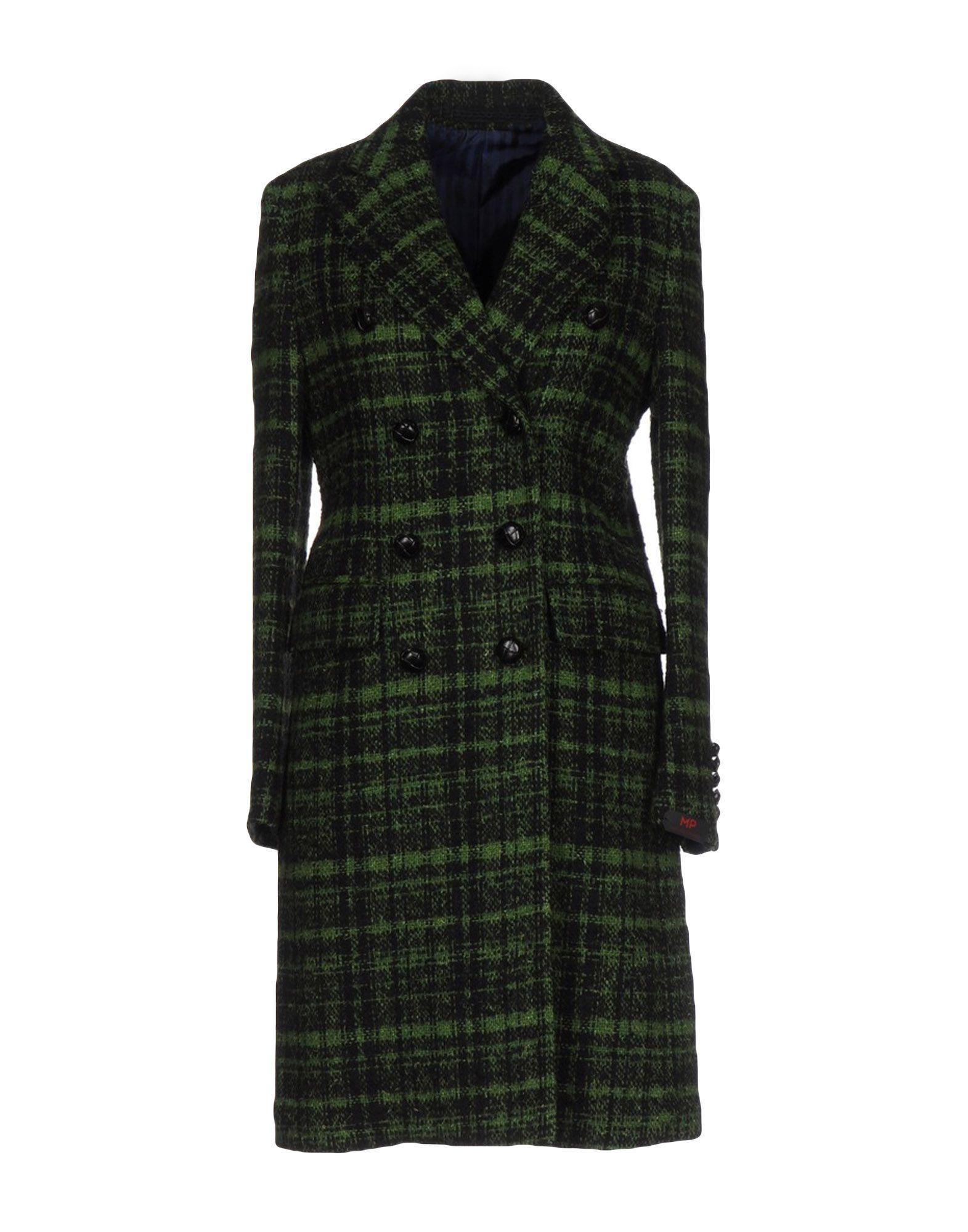 Mp Massimo Piombo Coats In Green
