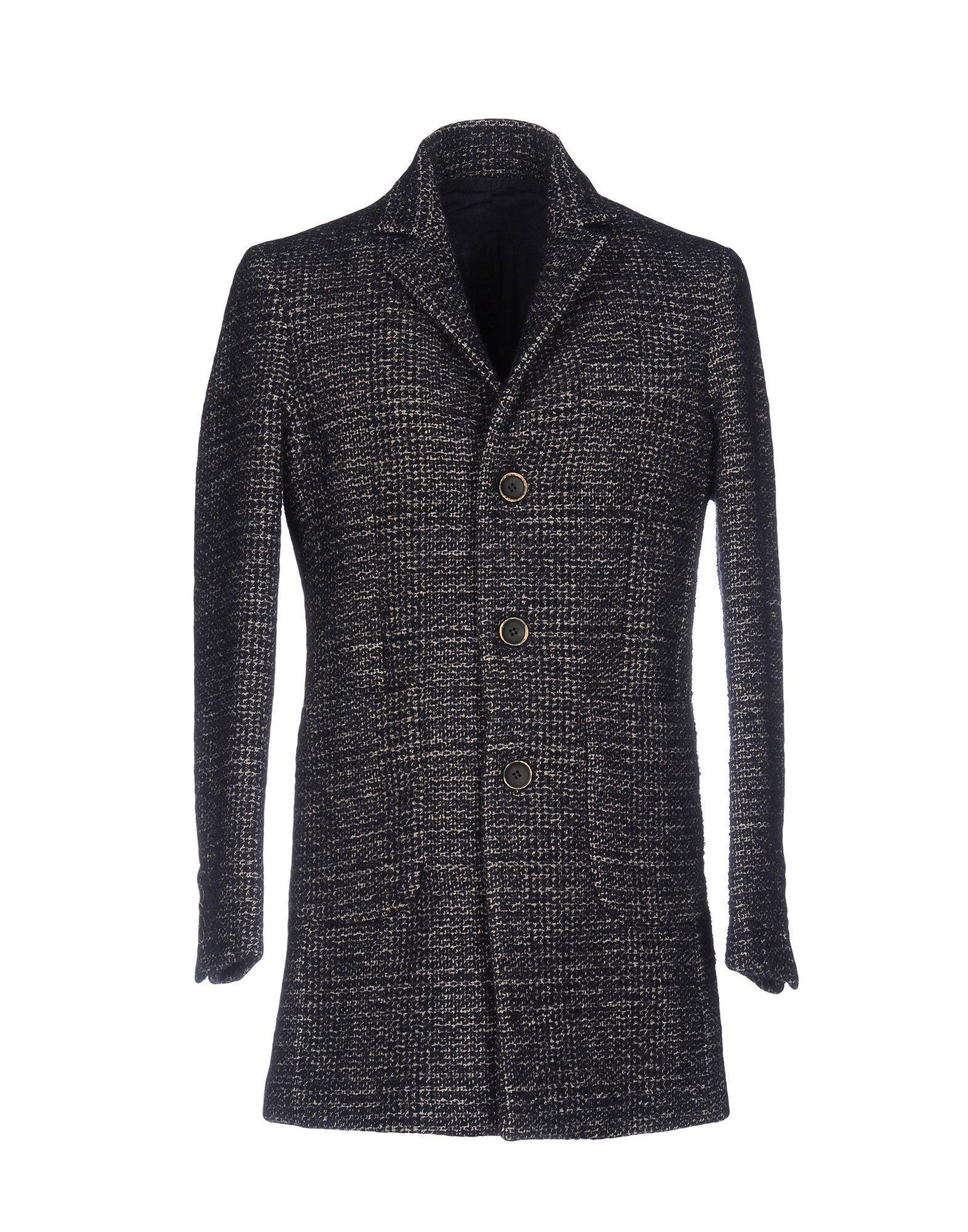 Original Vintage Style Coat In Dark Blue