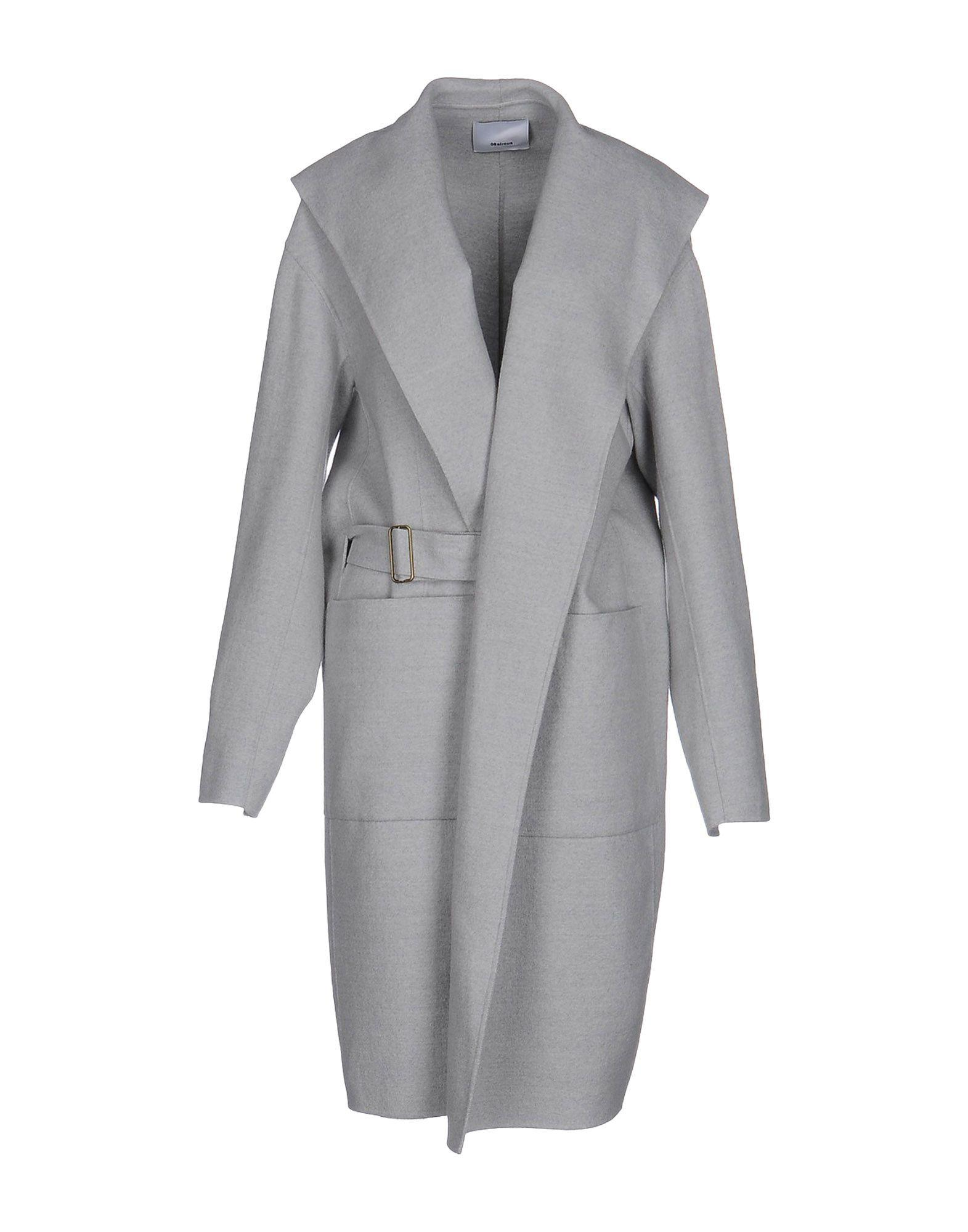 08sircus Belted Coats In Light Grey