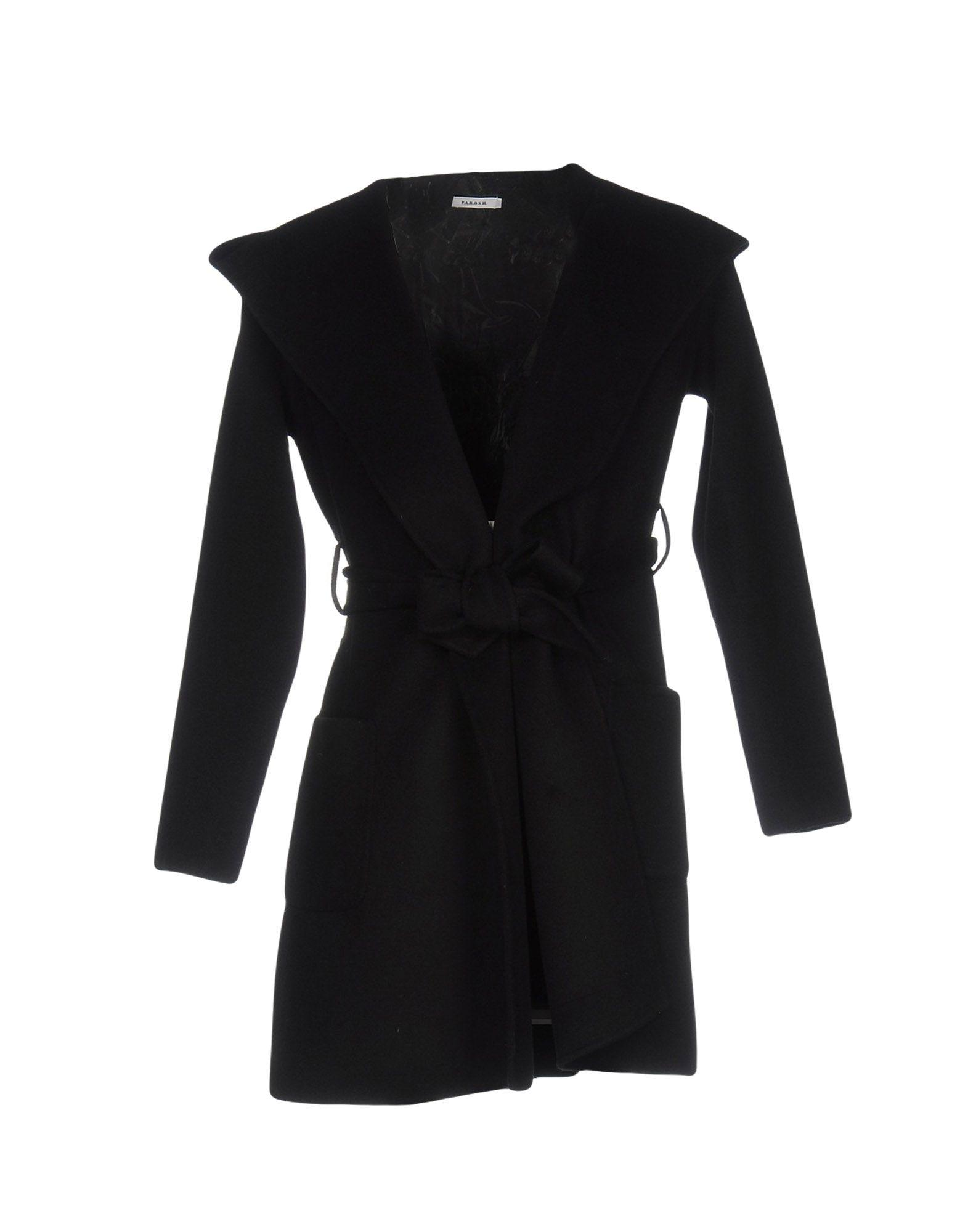 P.a.r.o.s.h. Full-length Jacket In Black