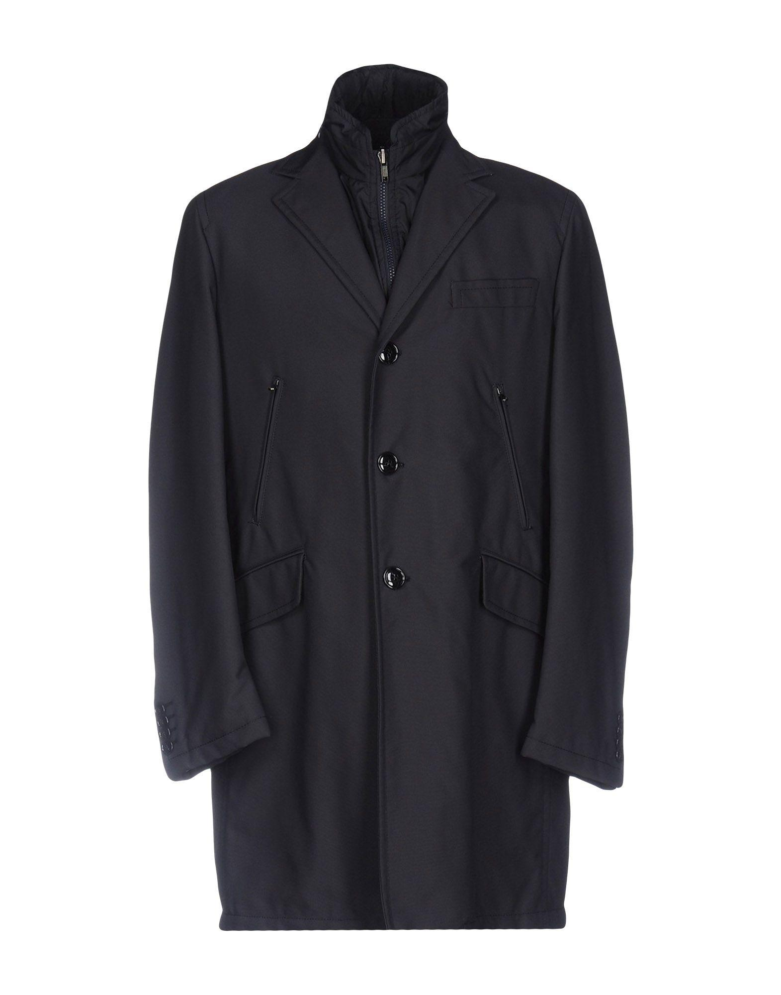 Manuel Ritz Coat In Dark Blue