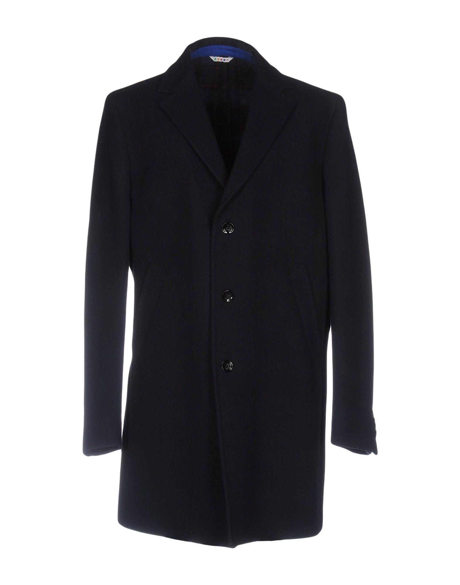 Manuel Ritz Coats In Dark Blue