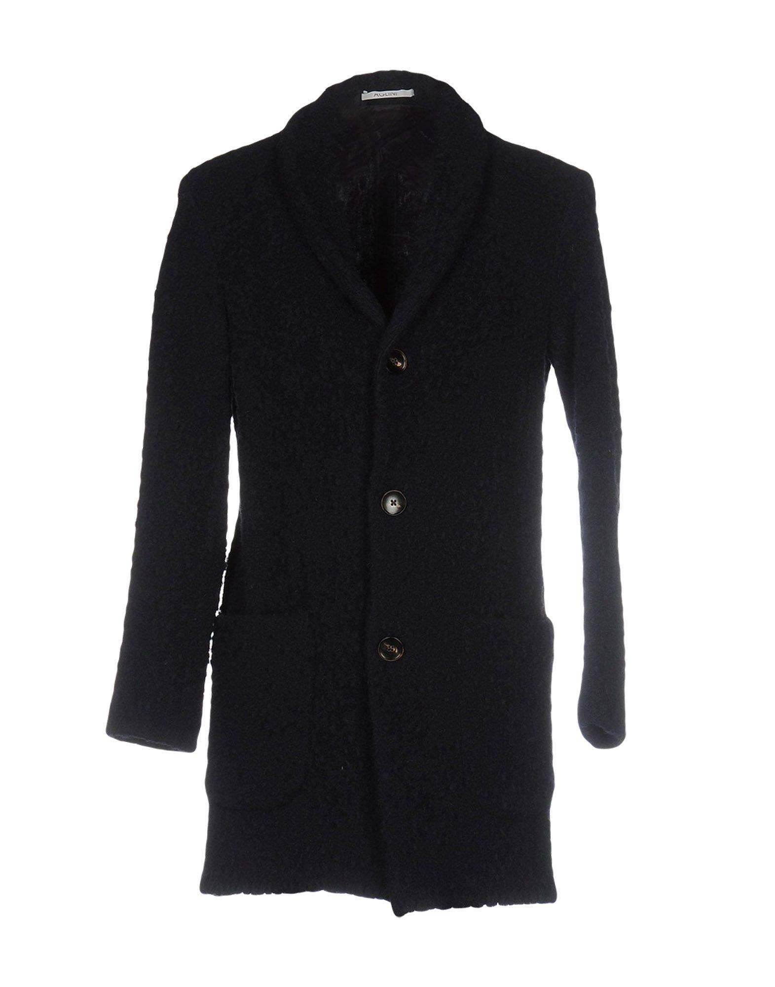 Aglini Coat In Dark Blue