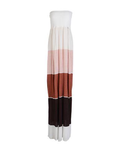 Patrizia Pepe Long Dresses In Brick Red