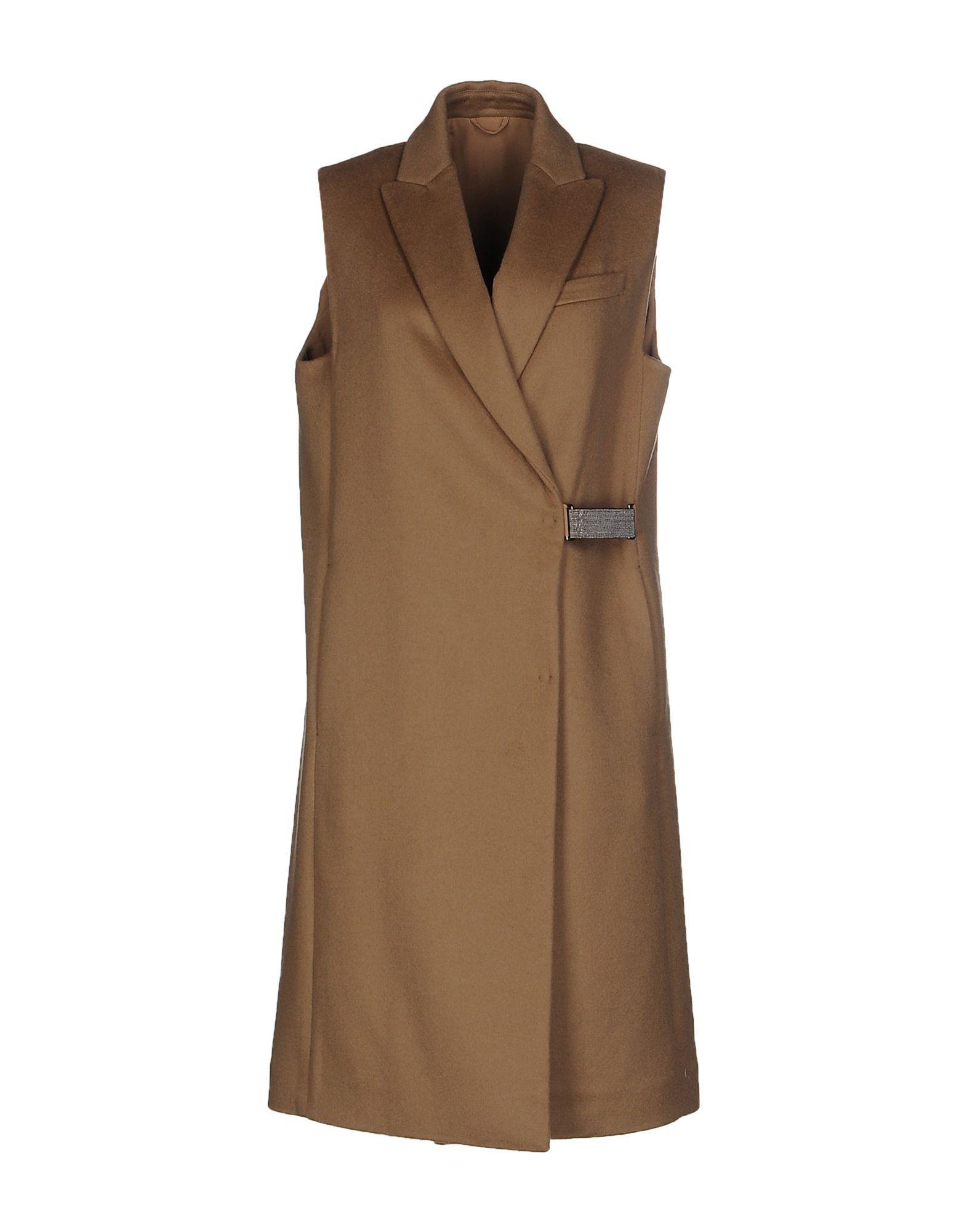Brunello Cucinelli Coats In Camel