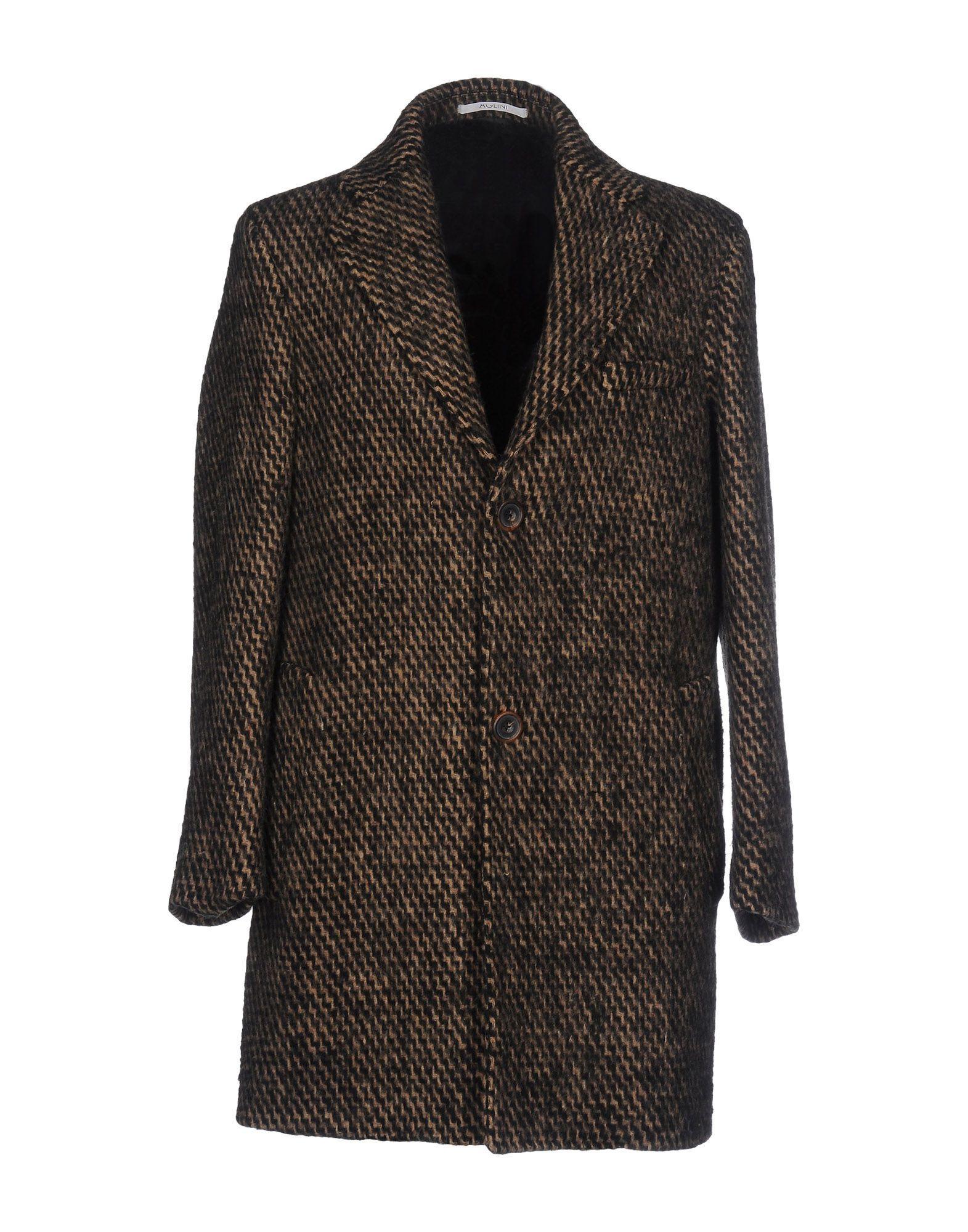 Aglini Coats In Khaki