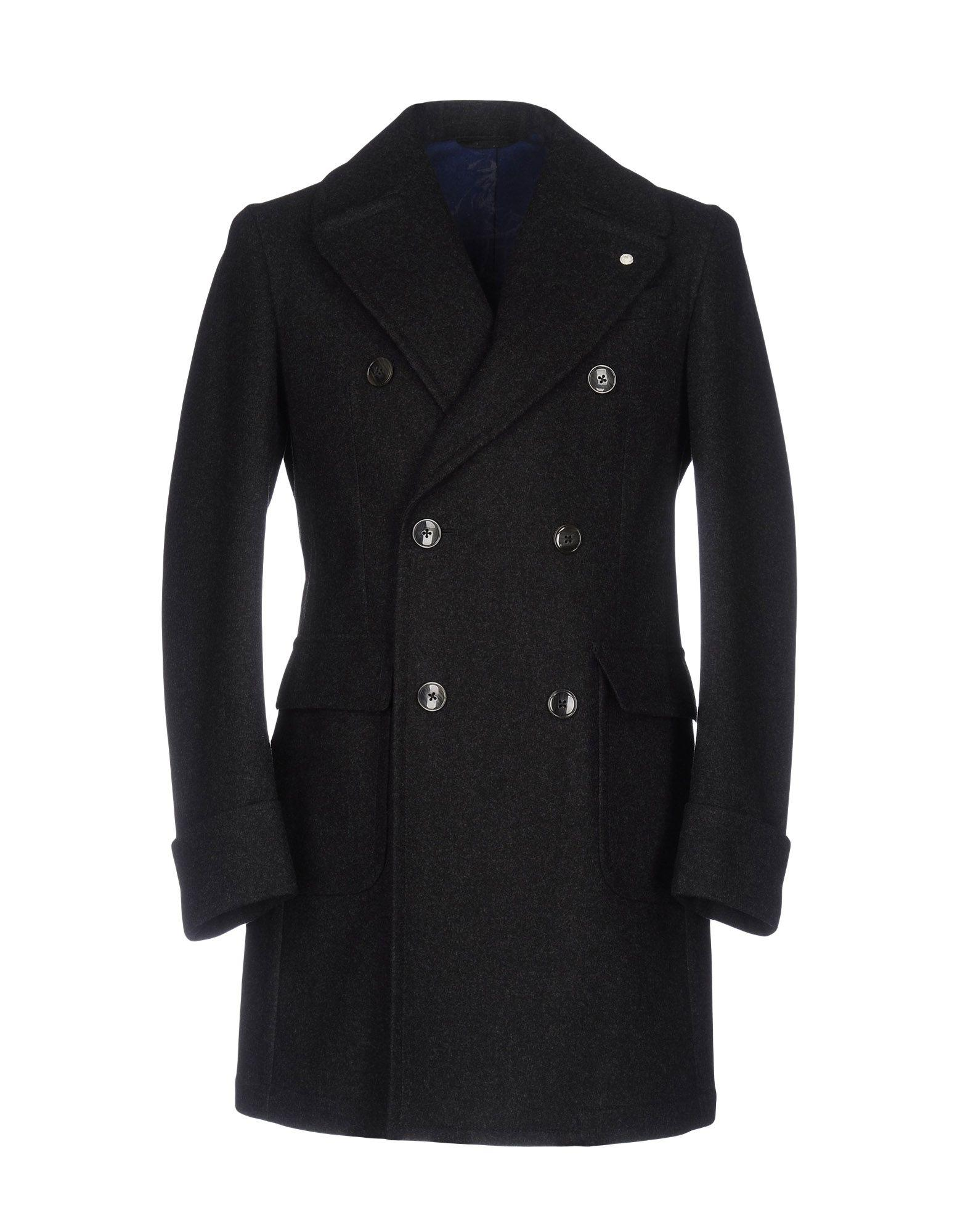Luigi Bianchi Mantova Coats In Steel Grey