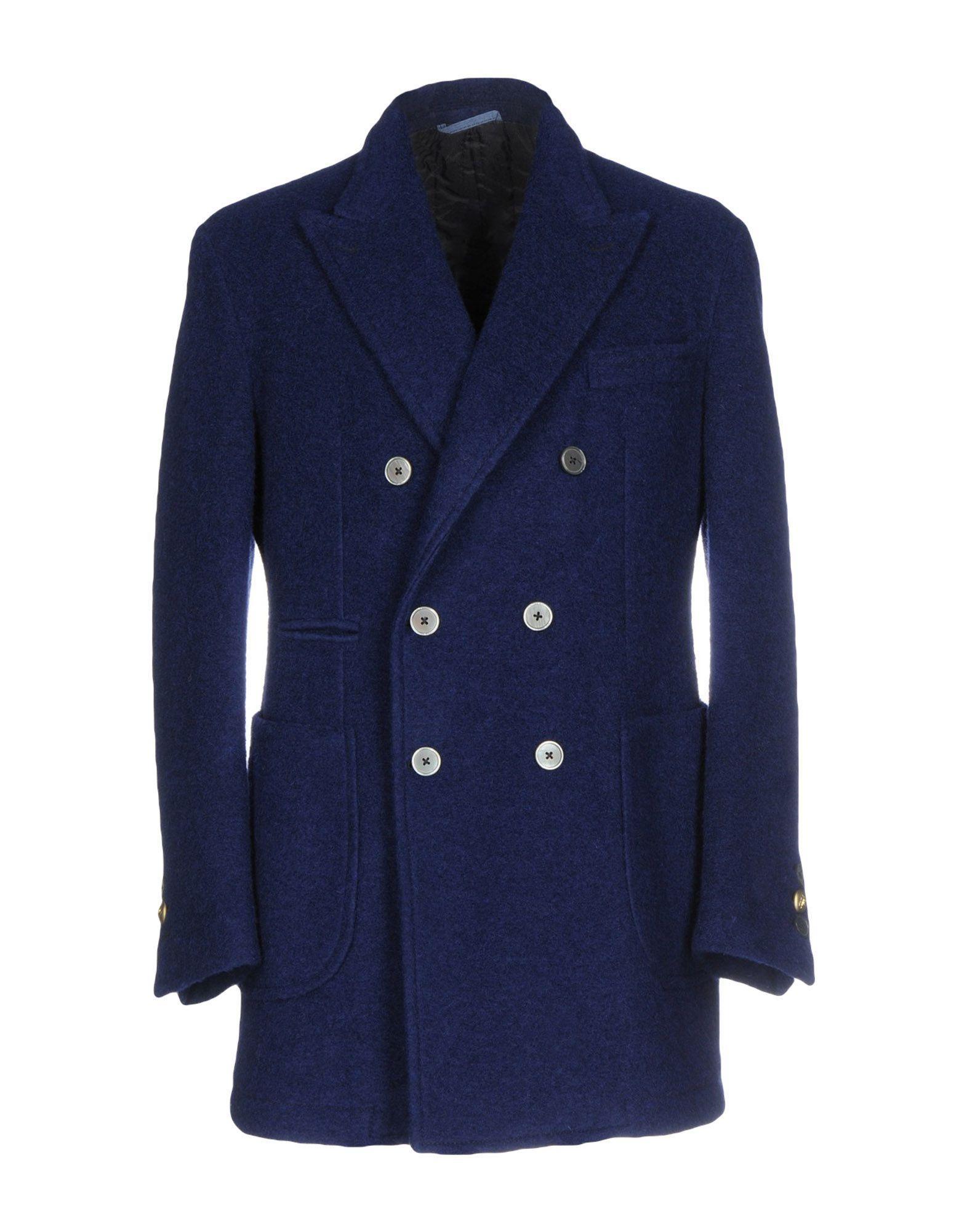 John Sheep Coats In Dark Blue