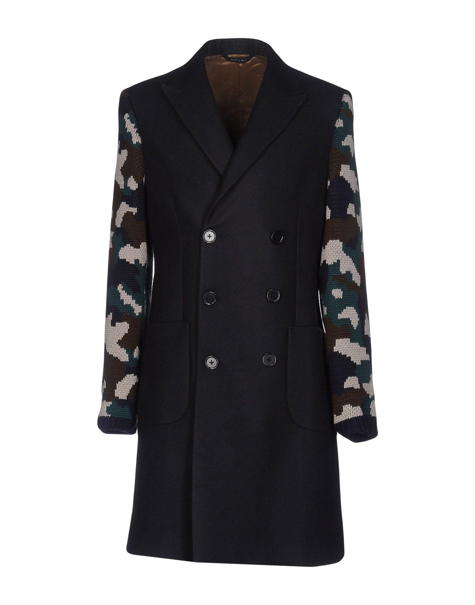 Lc23 Coat In Dark Blue