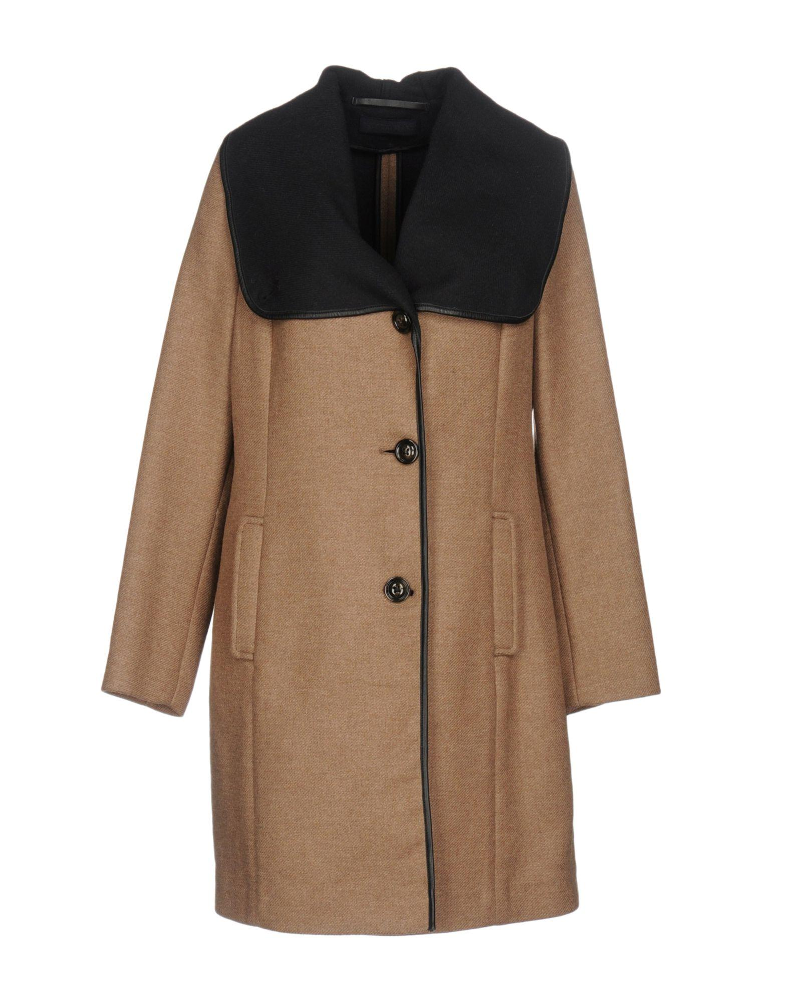 Tru Trussardi Coats In Khaki