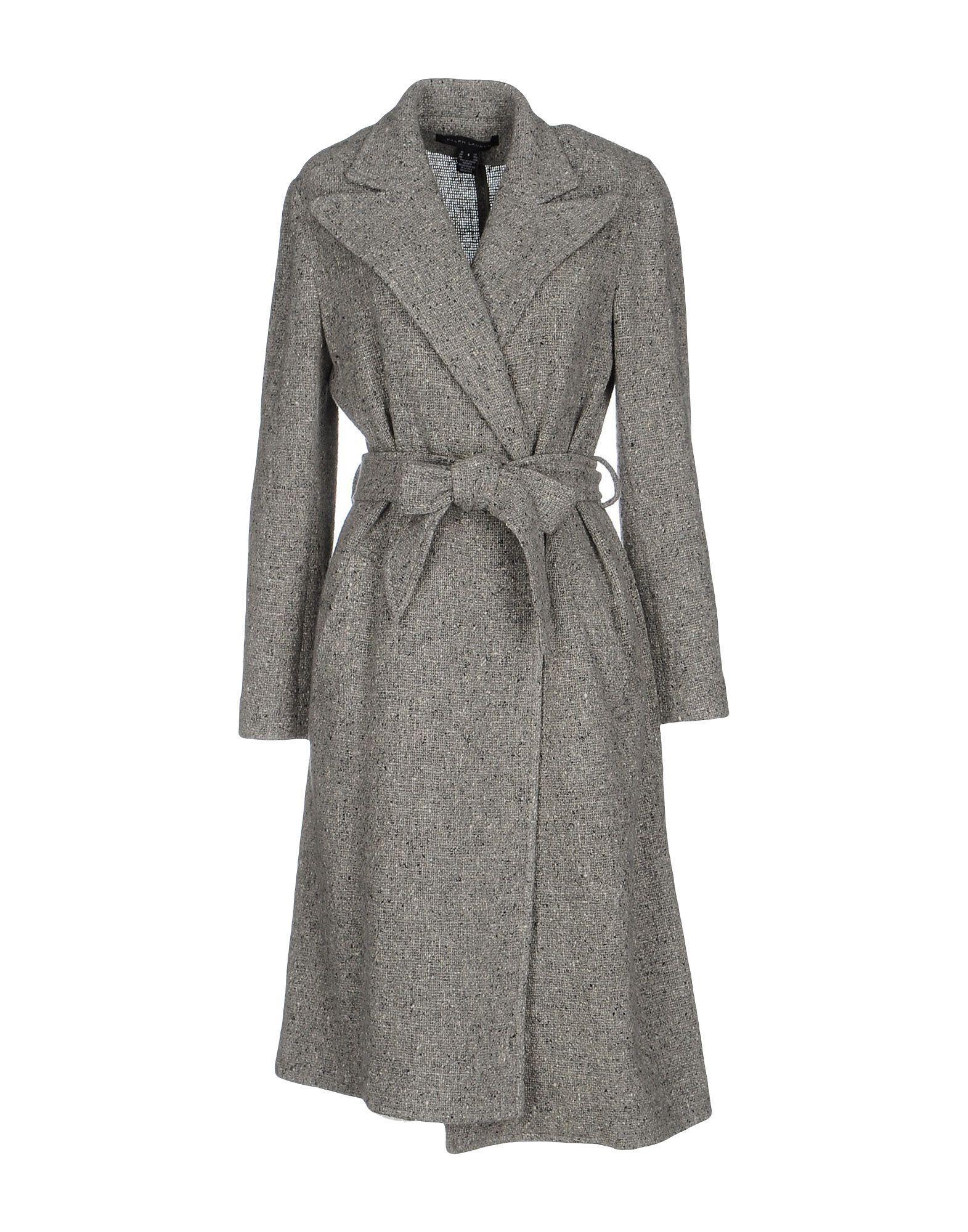 Ralph Lauren Belted Coats In Grey