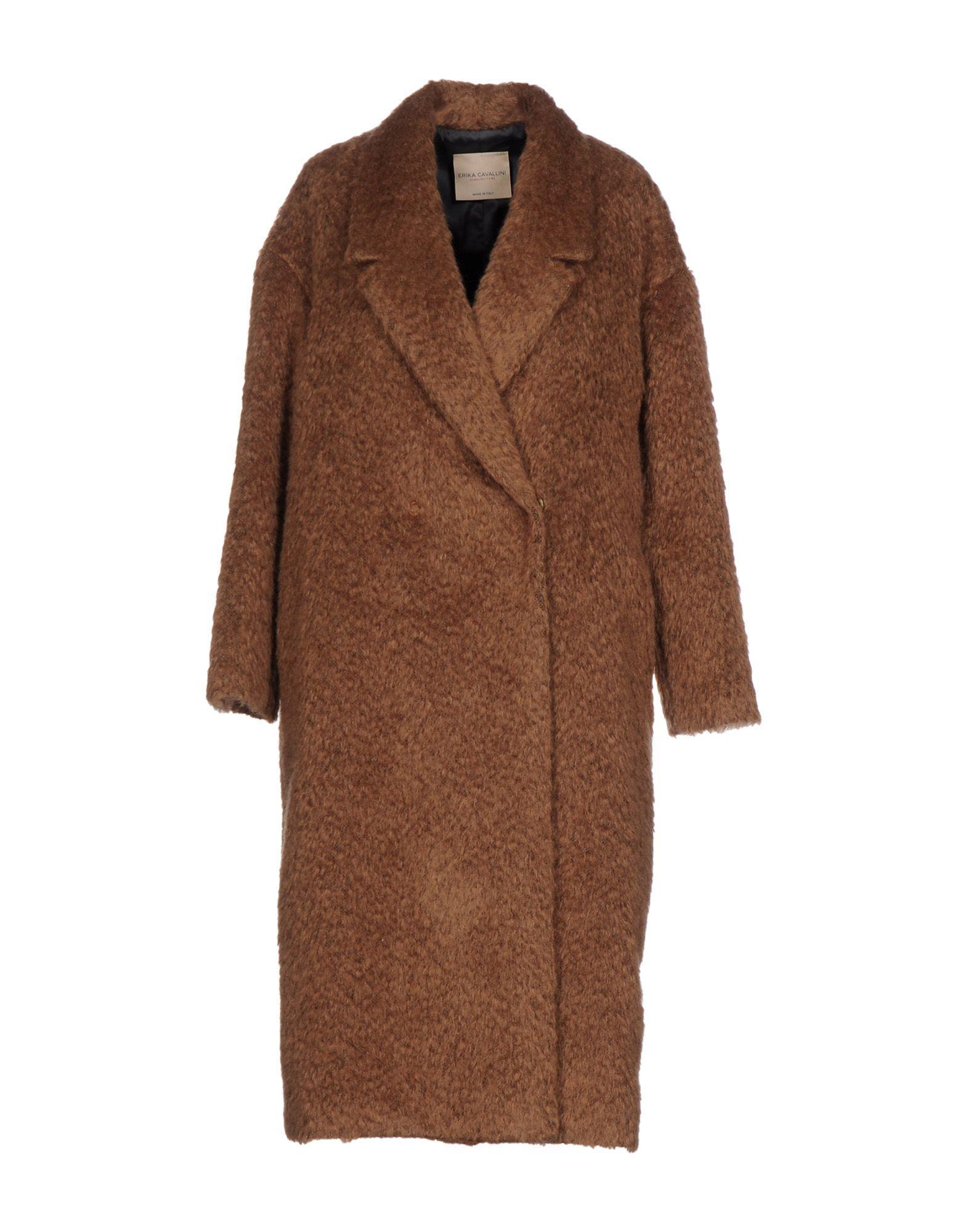 Erika Cavallini Coat In Camel