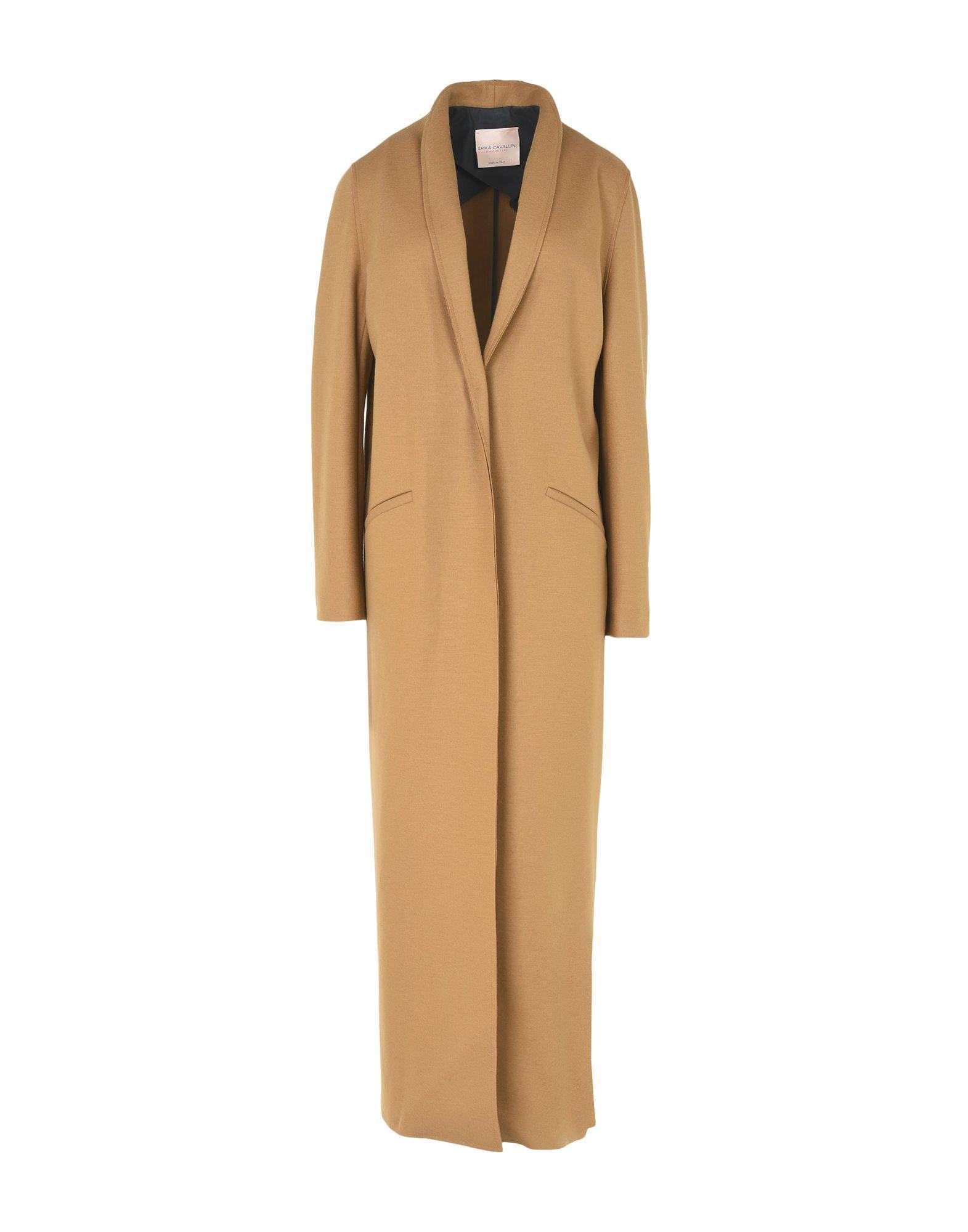 Erika Cavallini Coats In Camel