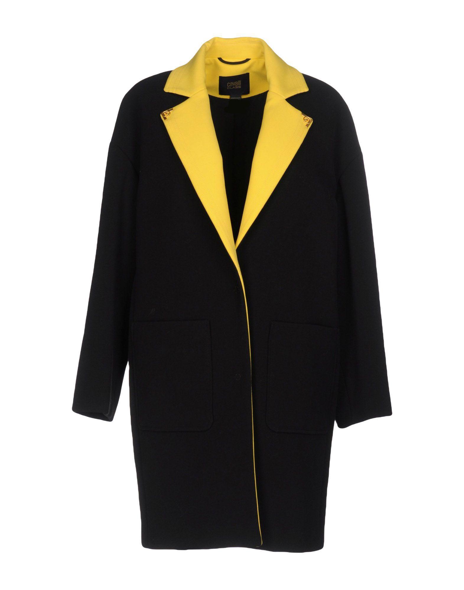 Class Roberto Cavalli Coats In Black