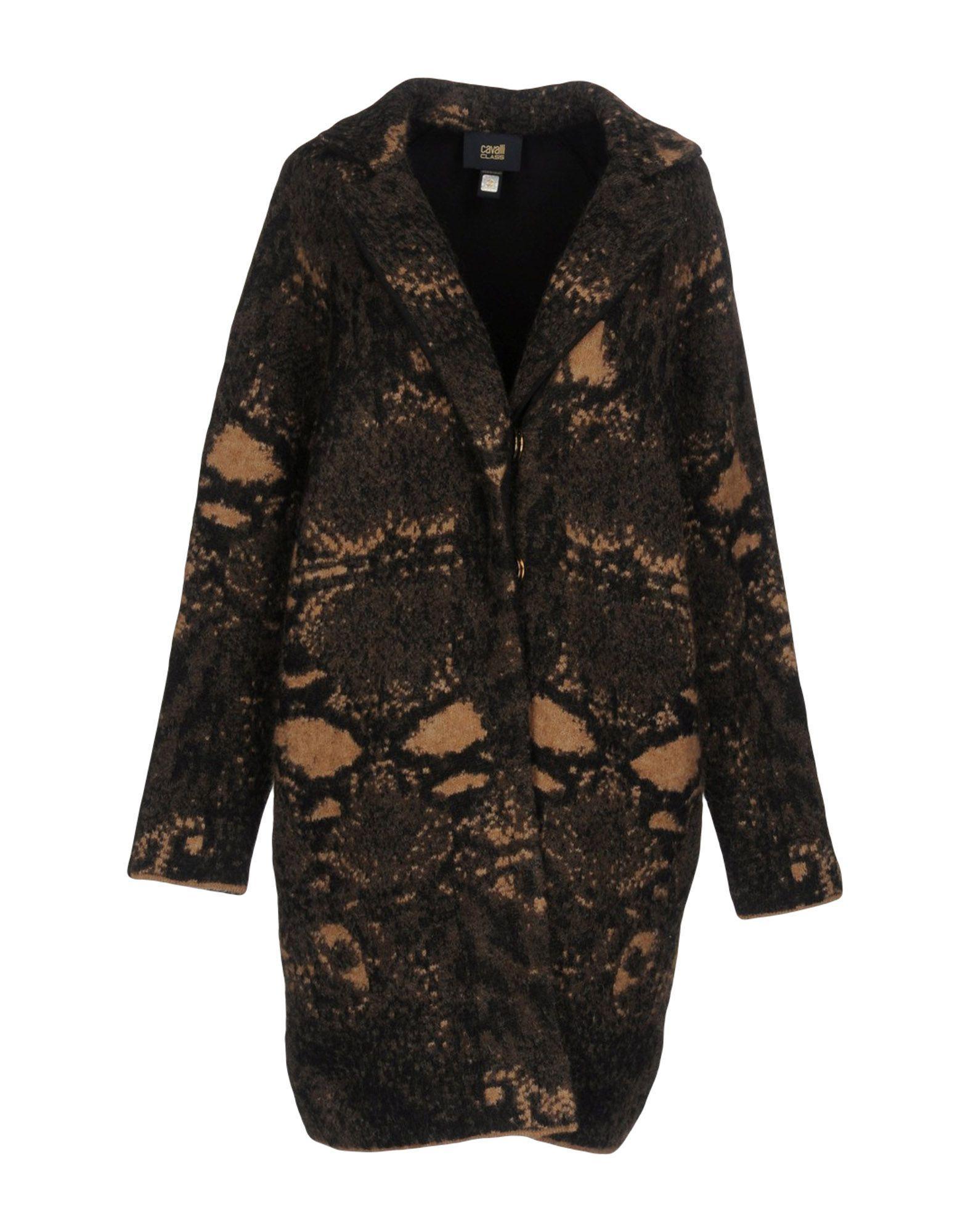 Class Roberto Cavalli Coats In Brown