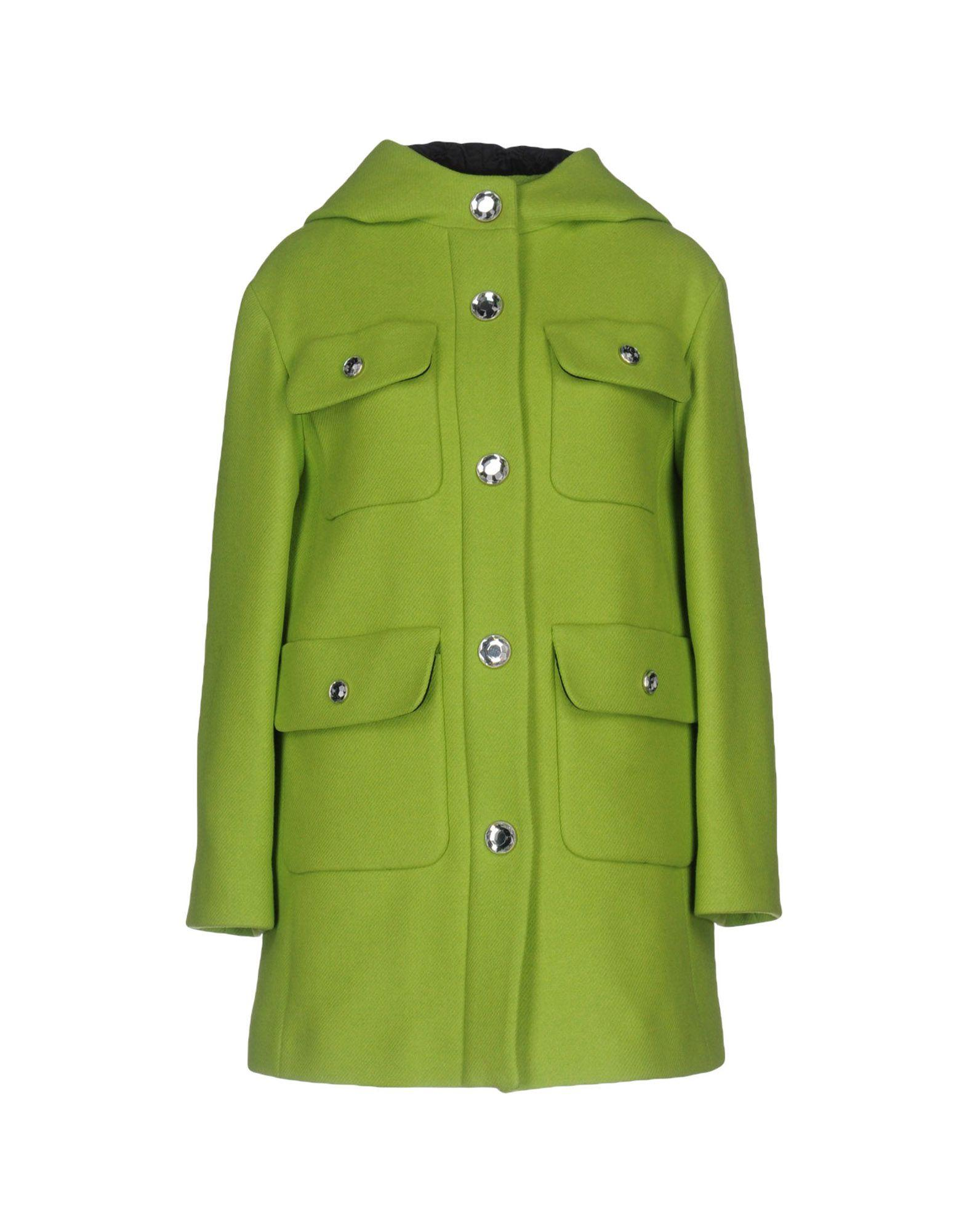 Moschino Cheap And Chic Coats In Acid Green