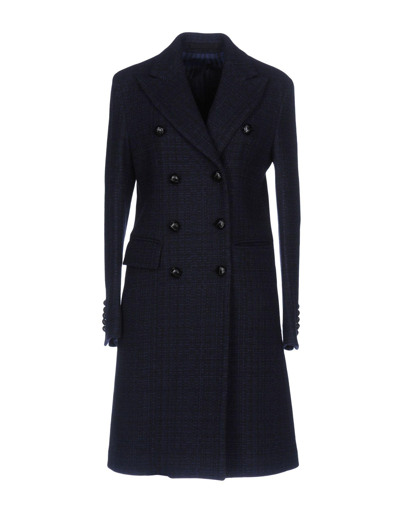 Mp Massimo Piombo Coats In Dark Blue