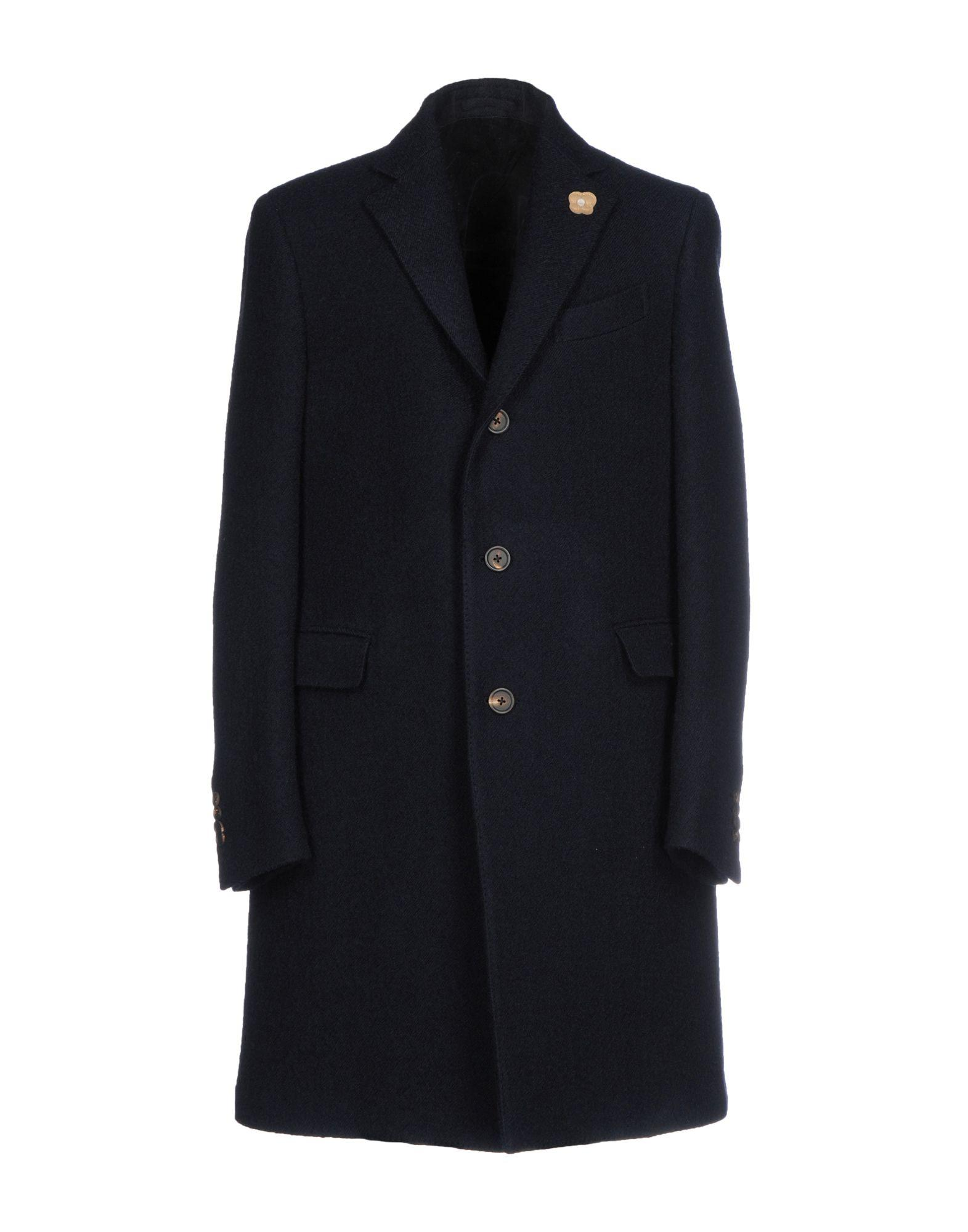 Lardini Coat In Dark Blue