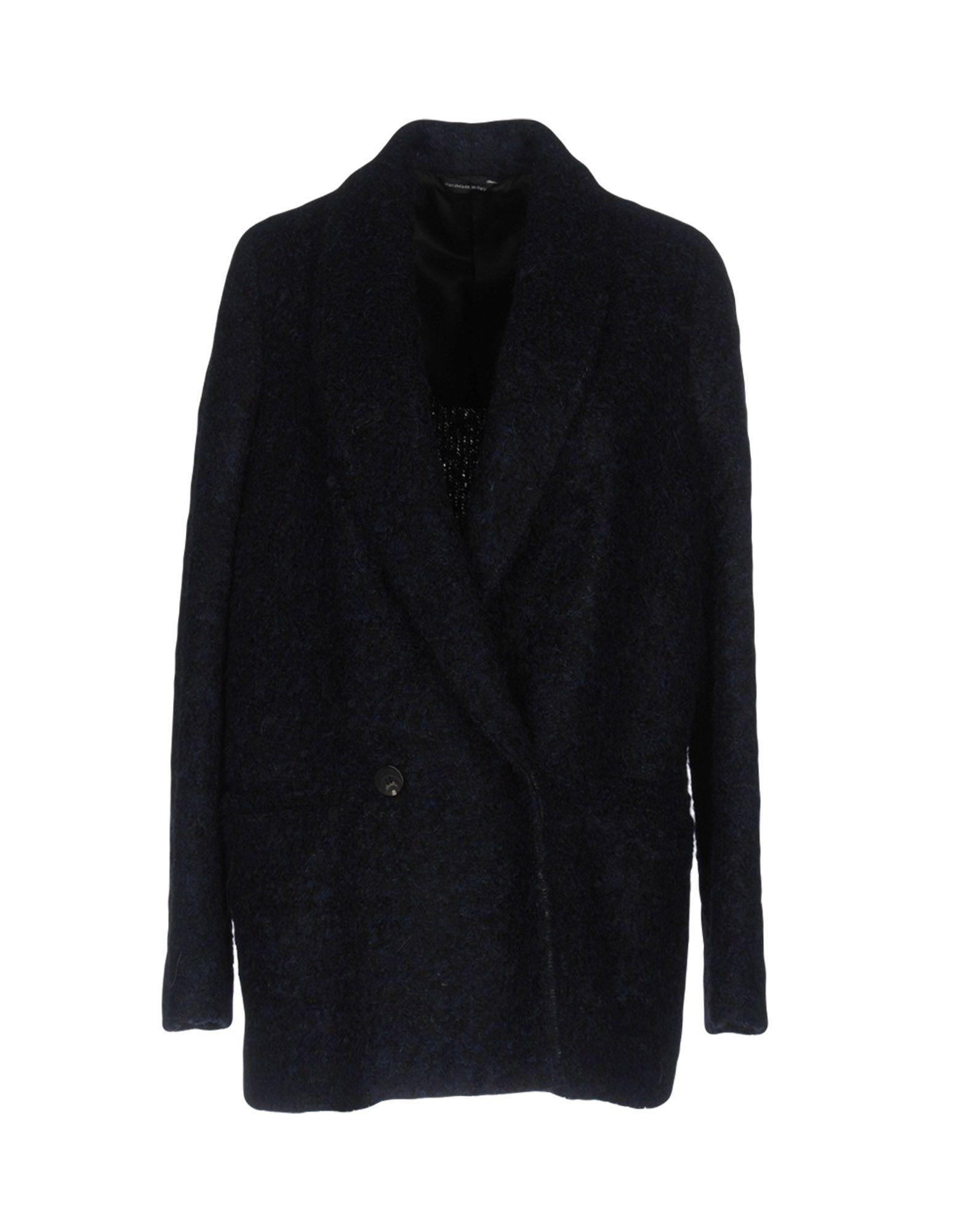 Tonello Coat In Dark Blue
