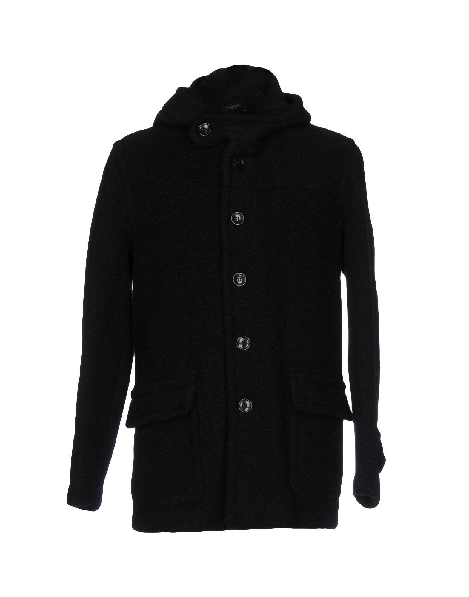 Roberto Collina Coats In Black