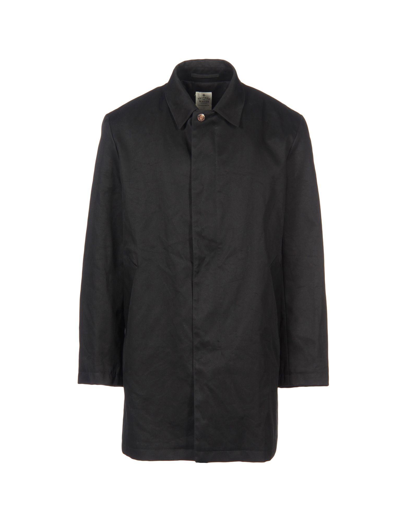Private White V.c. Coats In Black