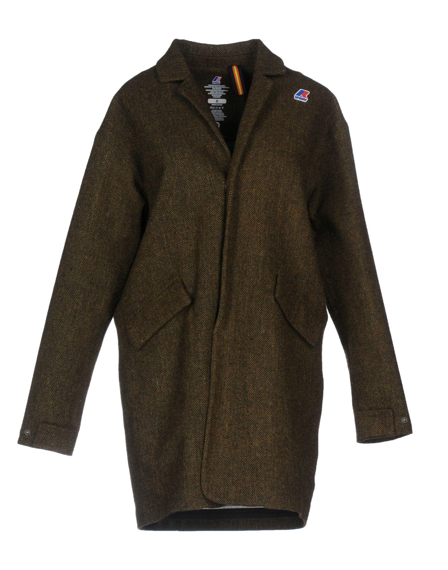 K-way Coats In Military Green