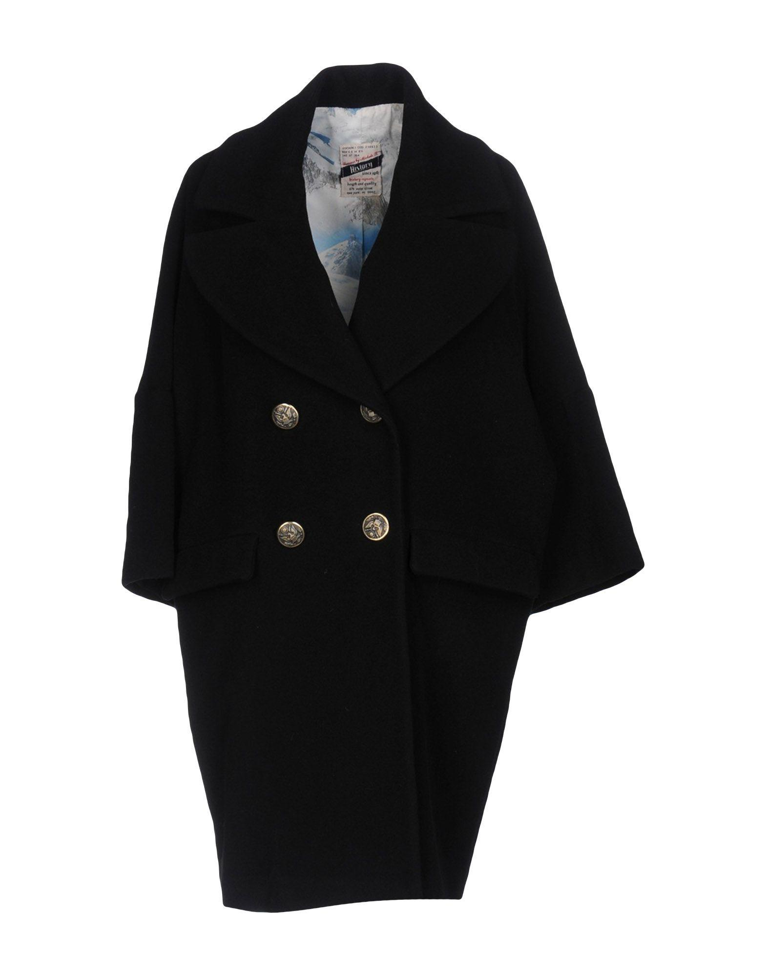 Femme By Michele Rossi Coat In Black