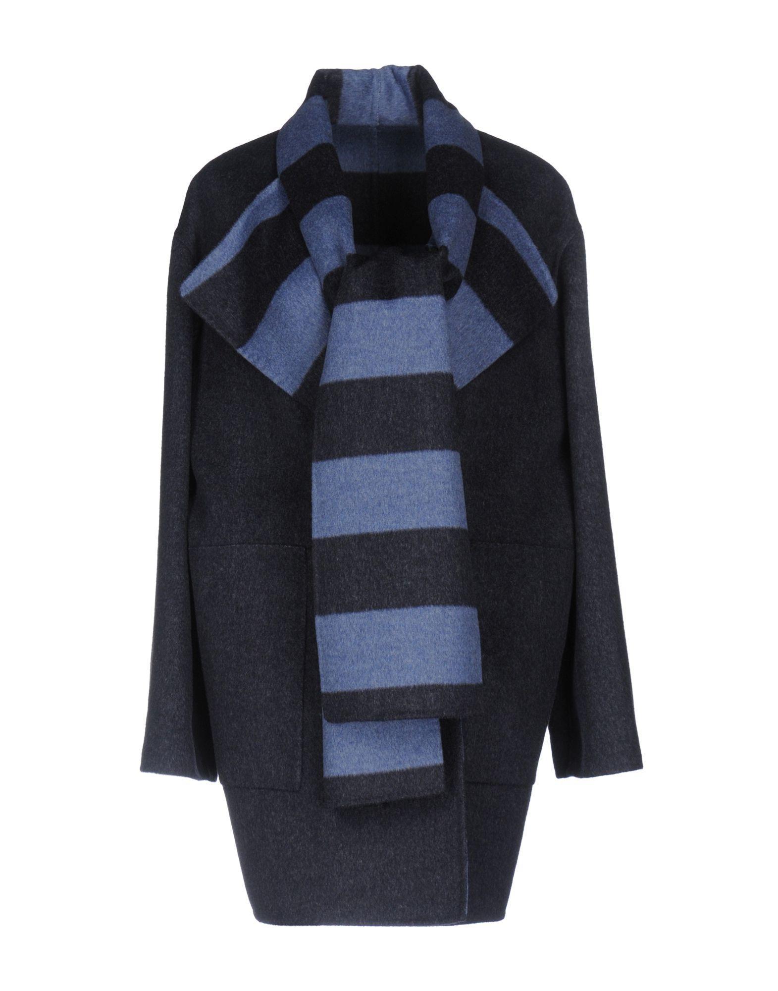 Les Copains Coat In Blue
