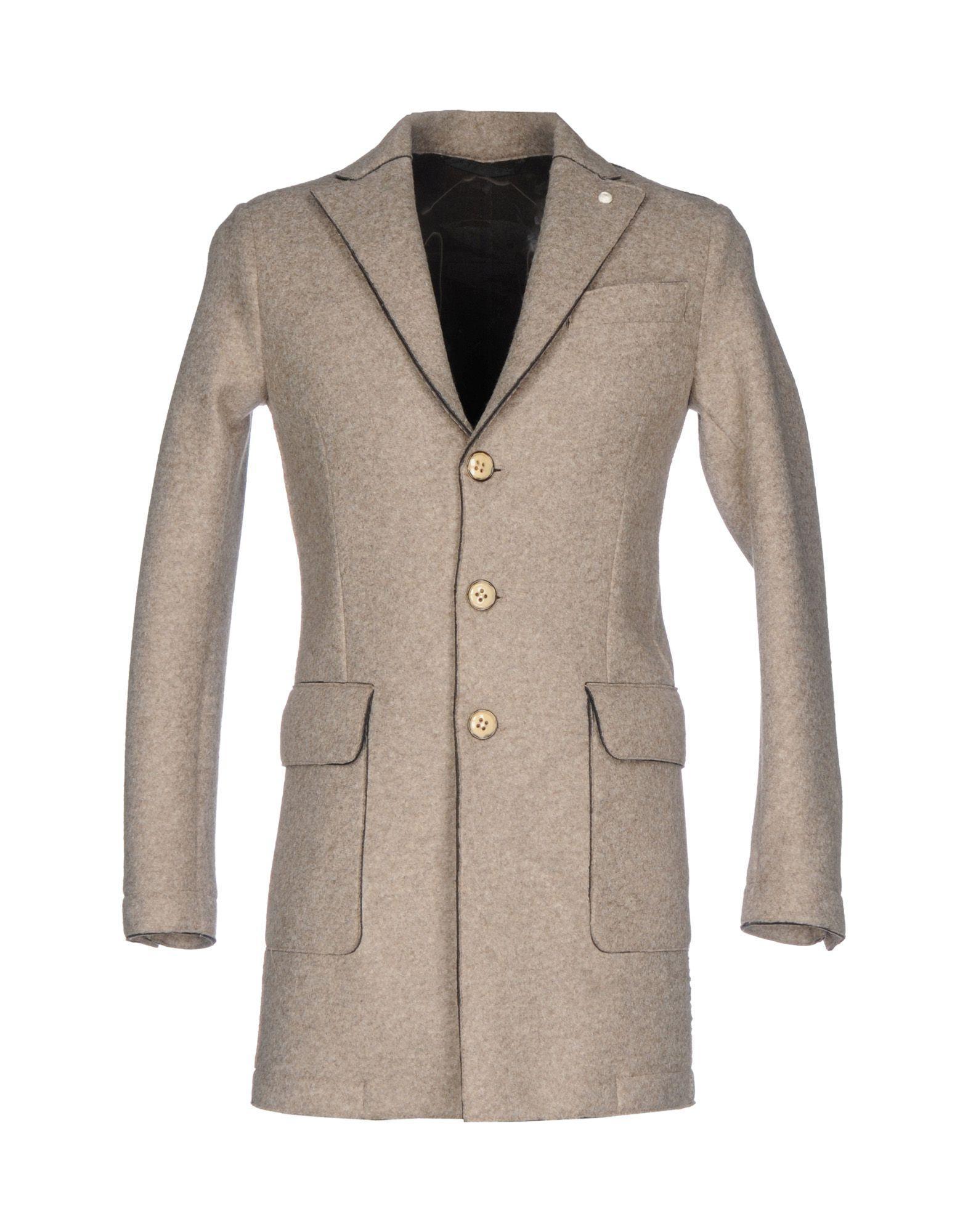 Luigi Bianchi Mantova Coats In Dove Grey